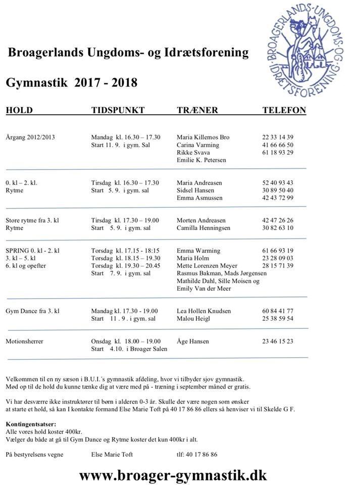 Programmet for 2017/2018 er klar!