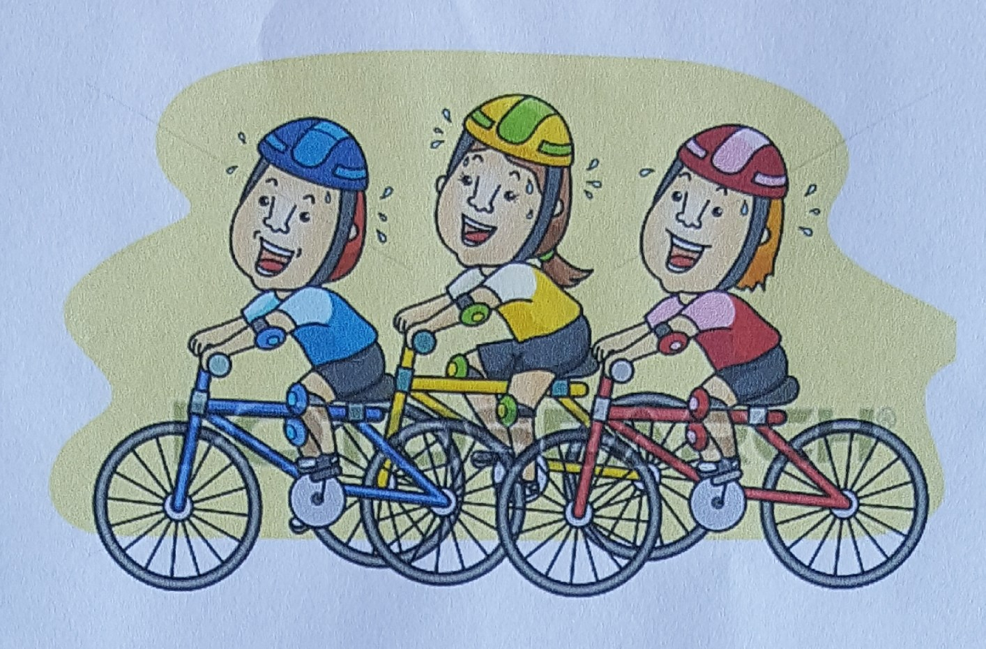 3 små cyklister.
