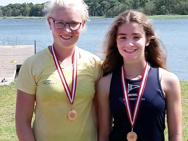 Dobbelt bronze til Nibes junior roer