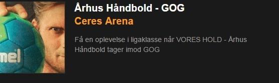 Ændret spille tidspunkt Århus Håndbold - GOG
