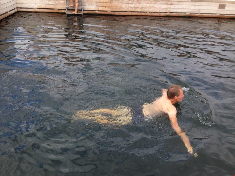 Svømmeprøve i Havnebadet
