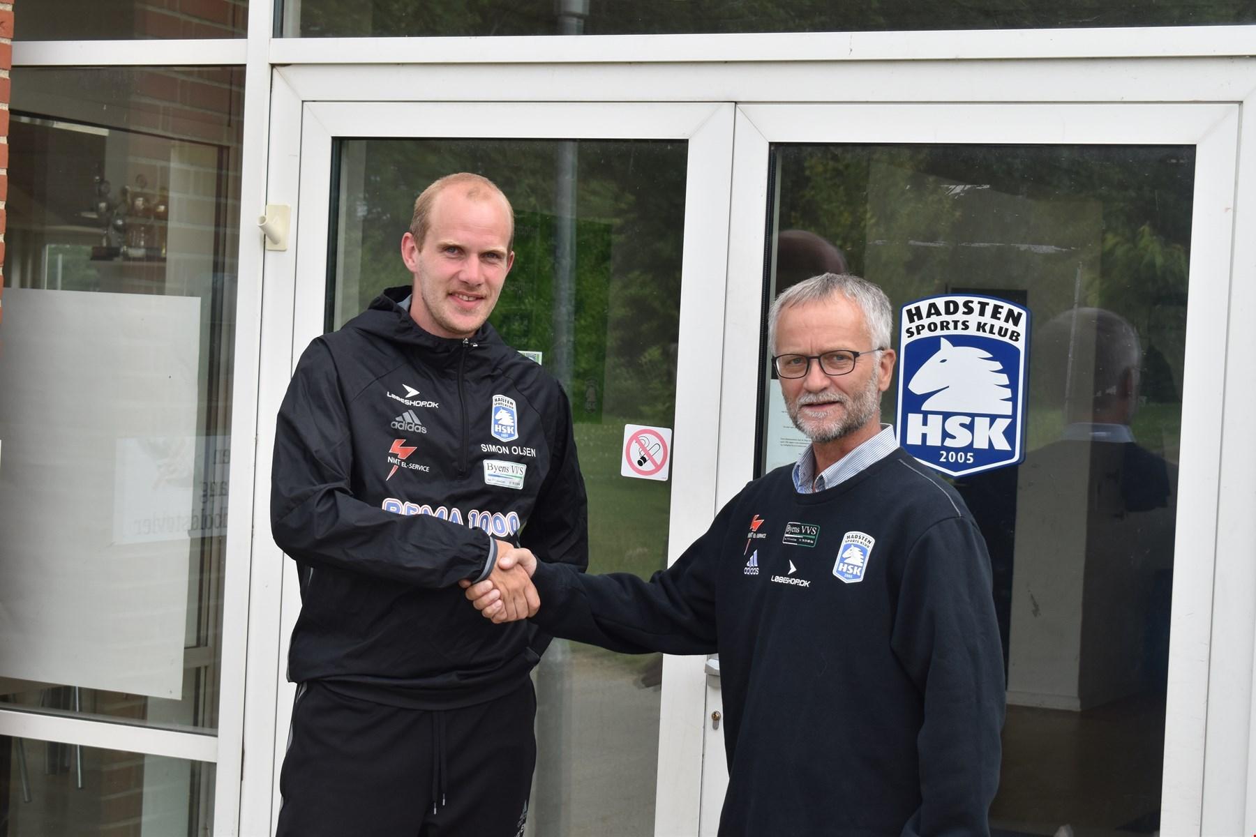 HSK Fodbold forlænger med Simon Buus Olsen