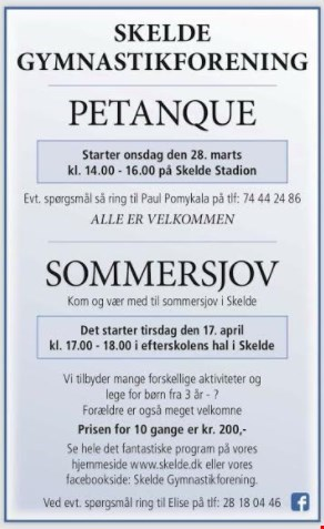 Petanque & Sommersjov 2018
